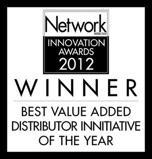 <p>« Meilleur distributeur de valeur ajoutée de l'année » (« Best Value Added Distributor of the Year ») – Network Middle East</p>