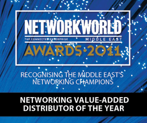 <p>« Distributeur de valeur ajoutée en réseautage de l'année » (« Networking Value Added Distributor of the Year ») – Network World Middle East</p>