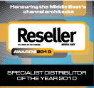 <p>« Distributeur spécialisé de l'année » (« Specialist Distributor of the Year ») – Reseller Middle East</p>