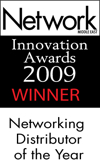 <p>« Distributeur de réseau de l'année » (« Networking Distributor of the Year ») – Network Middle East</p>
